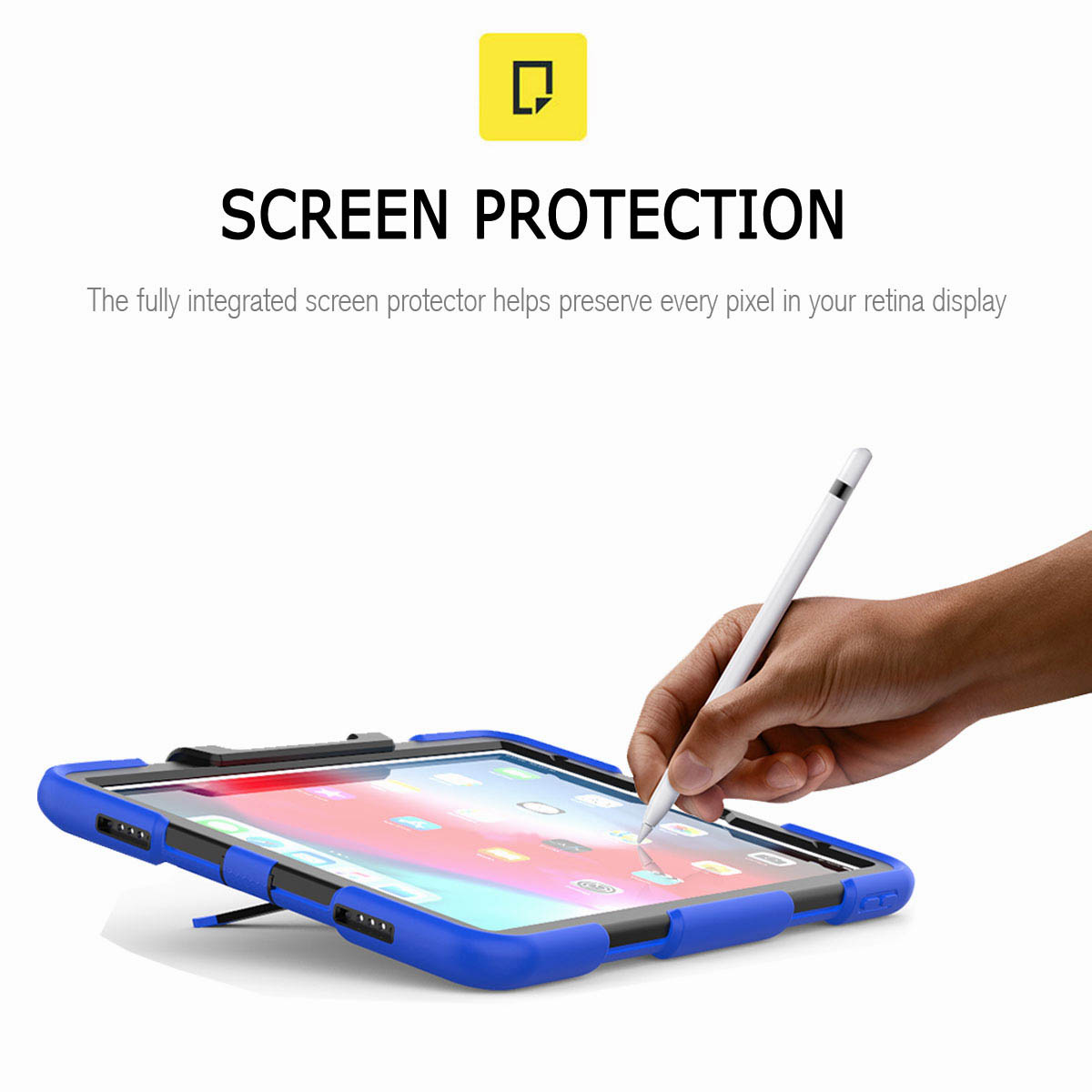 For-iPad-Pro-11-039-039-2018-Shockproof-Hybrid-Rugged-Stand-Case-with-Screen-Protector thumbnail 39