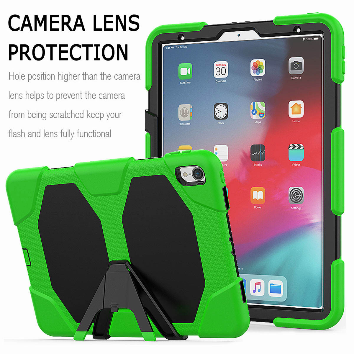 For-iPad-Pro-11-039-039-2018-Shockproof-Hybrid-Rugged-Stand-Case-with-Screen-Protector thumbnail 43