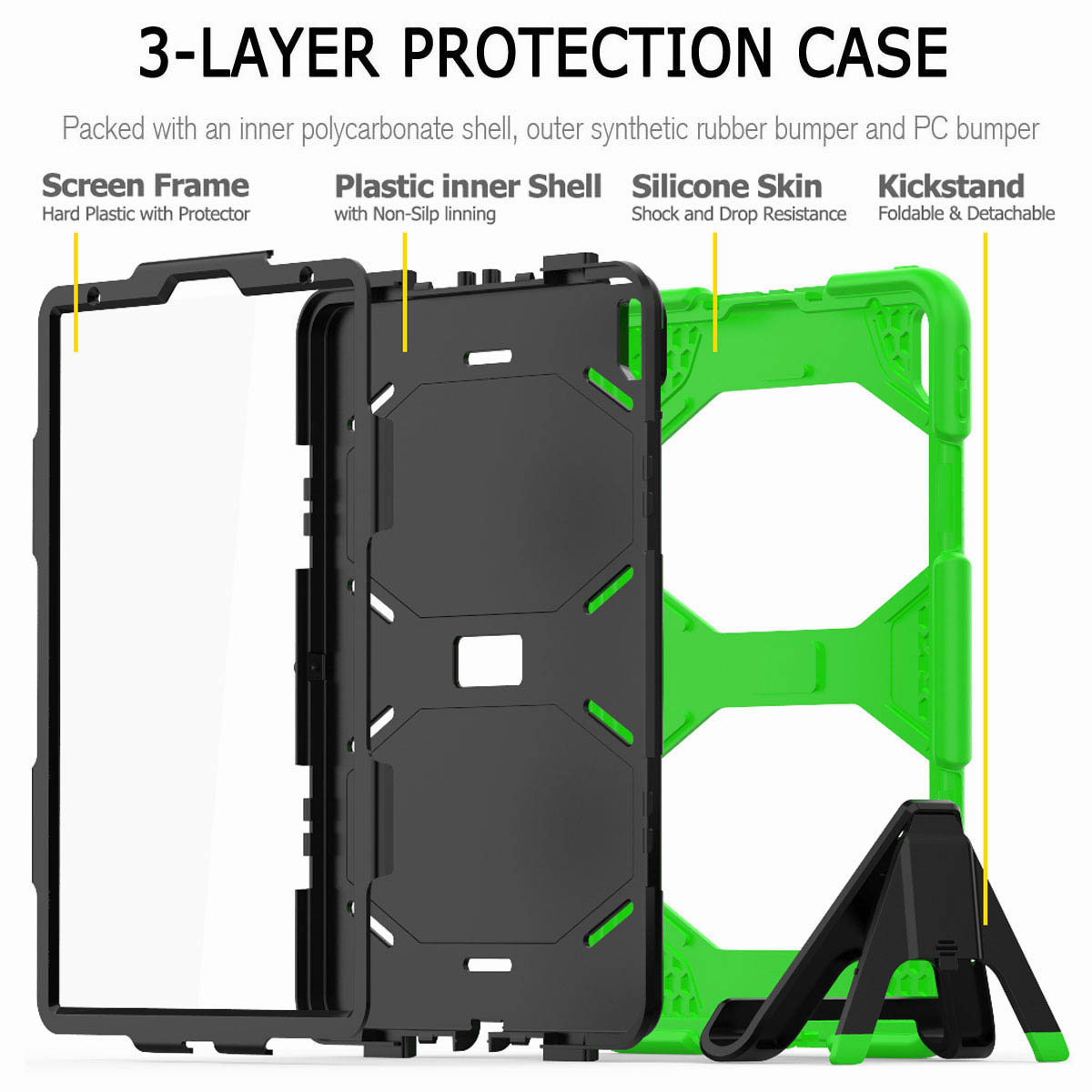 For-iPad-Pro-11-039-039-2018-Shockproof-Hybrid-Rugged-Stand-Case-with-Screen-Protector thumbnail 45