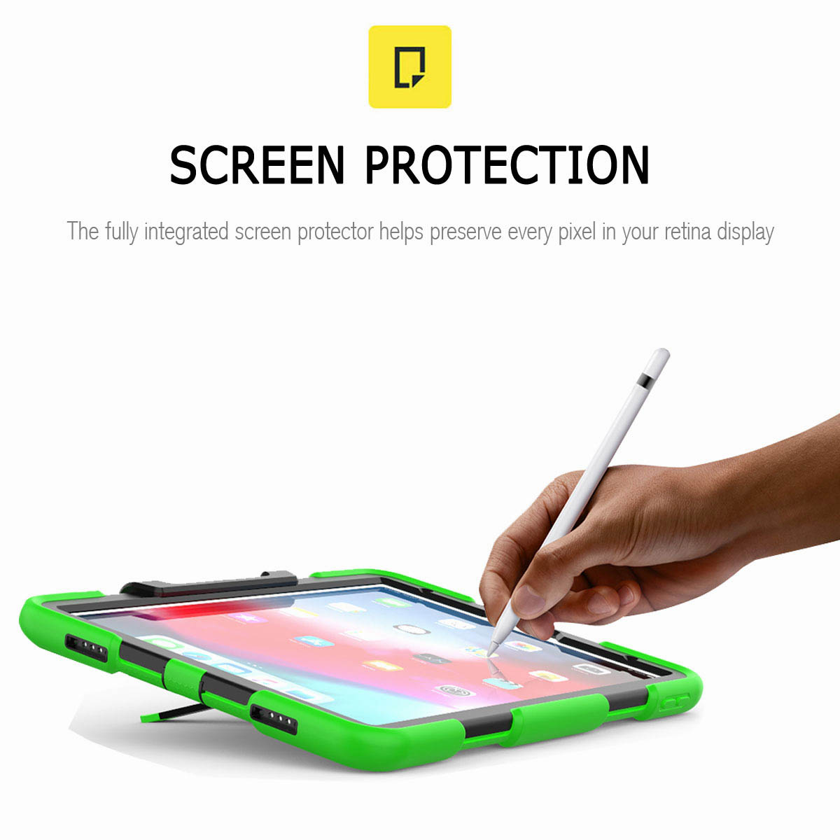 For-iPad-Pro-11-039-039-2018-Shockproof-Hybrid-Rugged-Stand-Case-with-Screen-Protector thumbnail 46