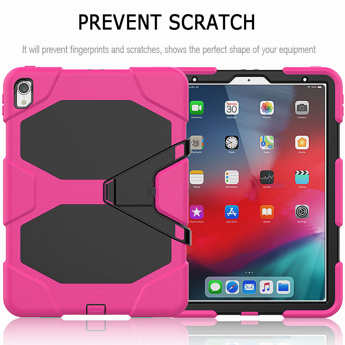 For-iPad-Pro-11-039-039-2018-Shockproof-Hybrid-Rugged-Stand-Case-with-Screen-Protector thumbnail 49