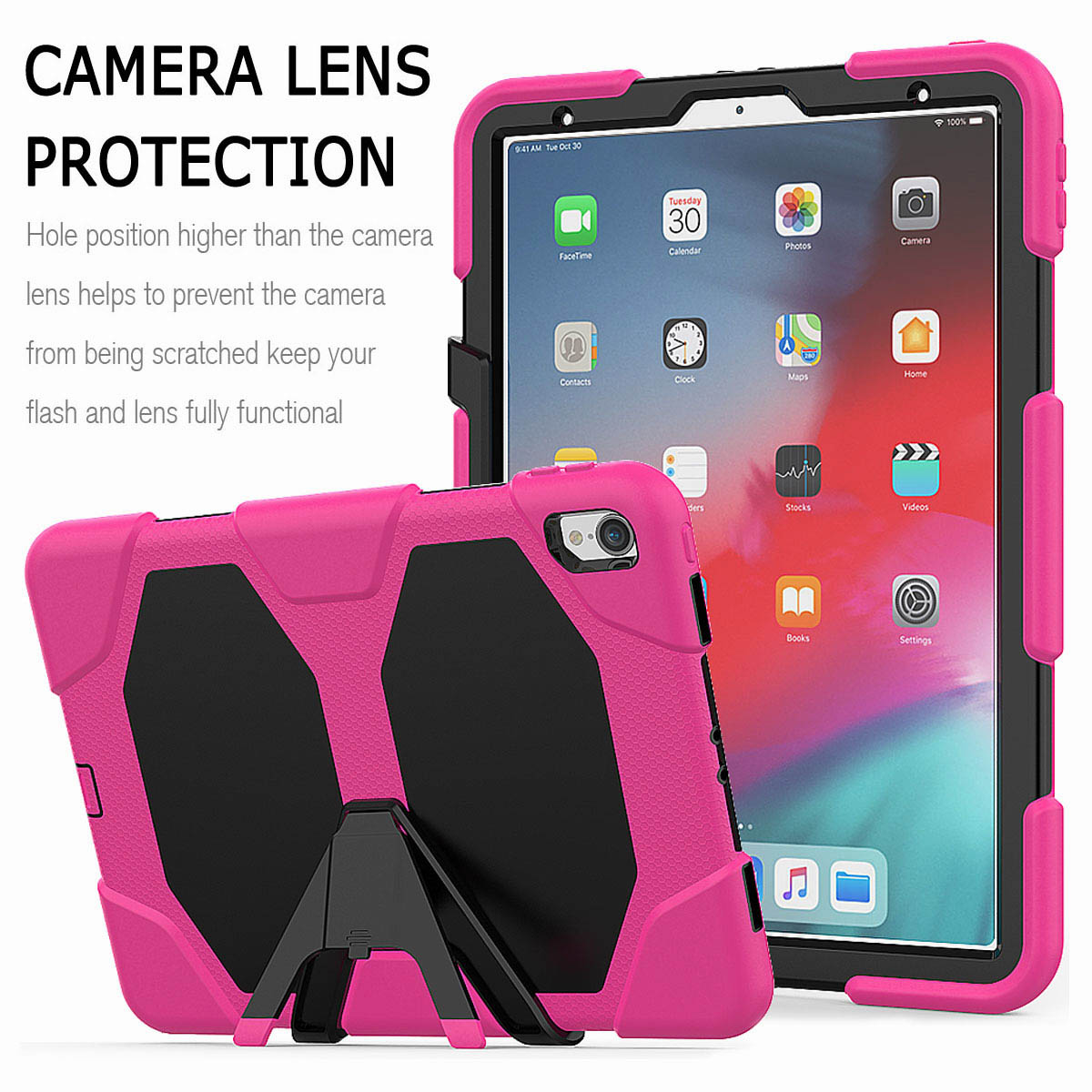 For-iPad-Pro-11-039-039-2018-Shockproof-Hybrid-Rugged-Stand-Case-with-Screen-Protector thumbnail 50