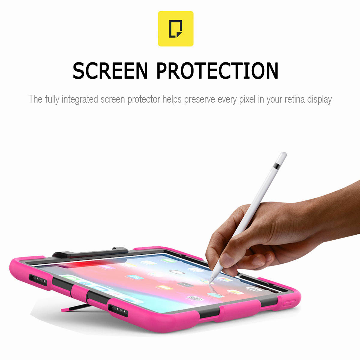 For-iPad-Pro-11-039-039-2018-Shockproof-Hybrid-Rugged-Stand-Case-with-Screen-Protector thumbnail 53