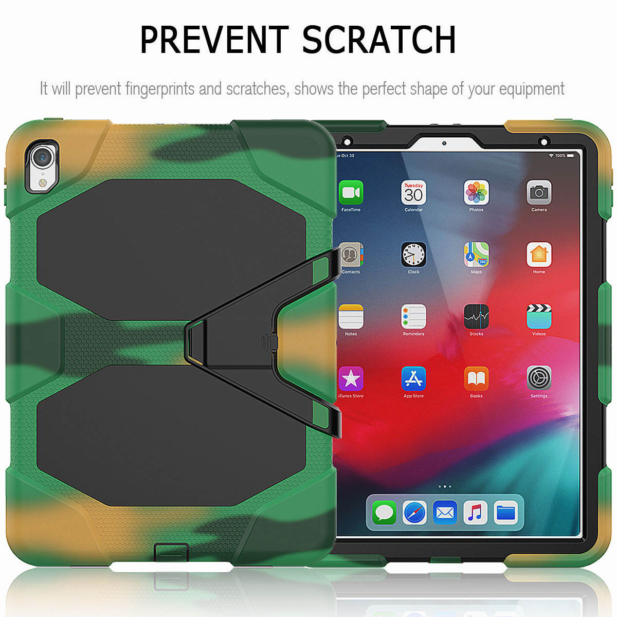 For-iPad-Pro-11-039-039-2018-Shockproof-Hybrid-Rugged-Stand-Case-with-Screen-Protector thumbnail 56
