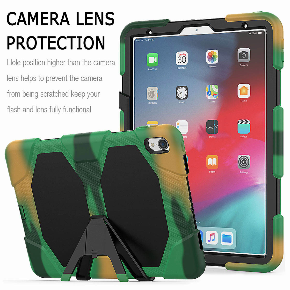 For-iPad-Pro-11-039-039-2018-Shockproof-Hybrid-Rugged-Stand-Case-with-Screen-Protector thumbnail 57