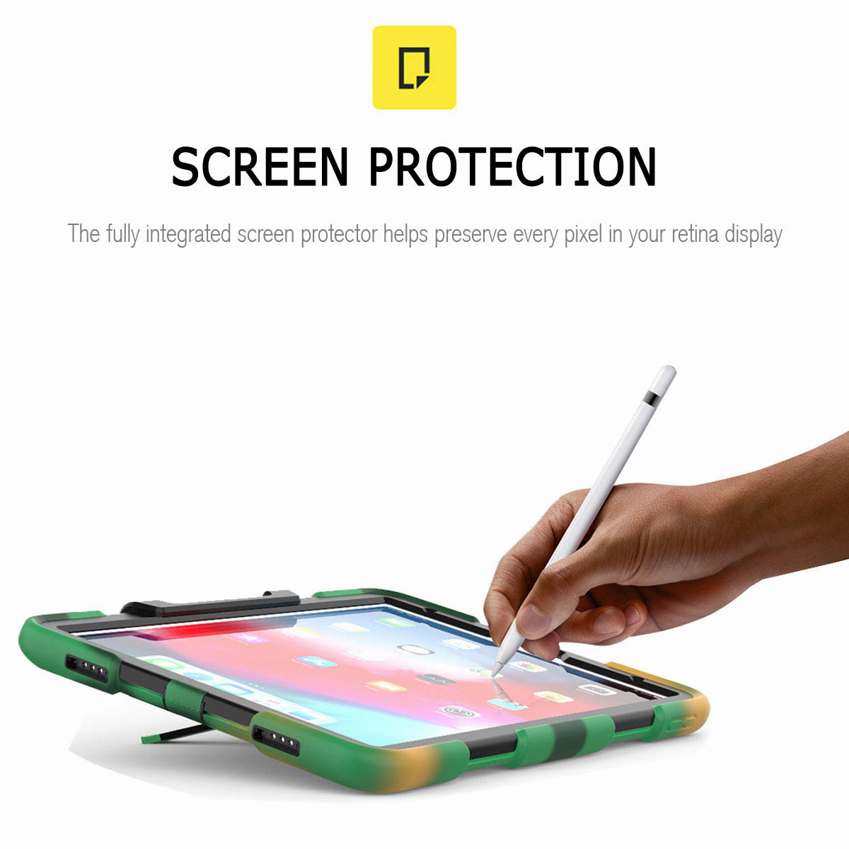 For-iPad-Pro-11-039-039-2018-Shockproof-Hybrid-Rugged-Stand-Case-with-Screen-Protector thumbnail 60