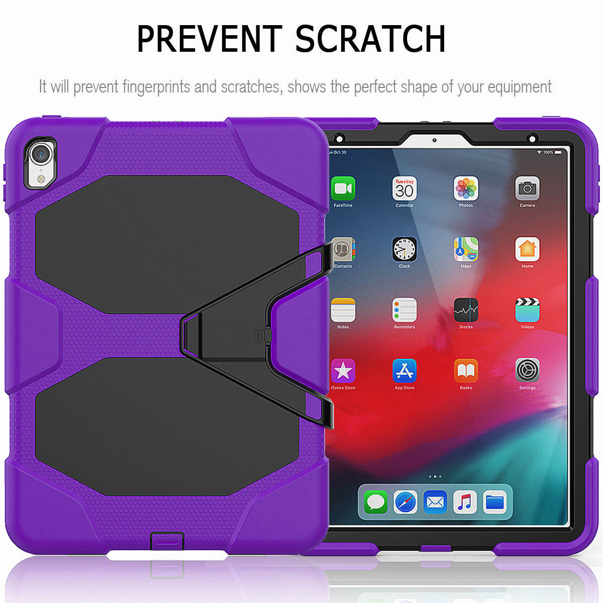 For-iPad-Pro-11-039-039-2018-Shockproof-Hybrid-Rugged-Stand-Case-with-Screen-Protector thumbnail 63