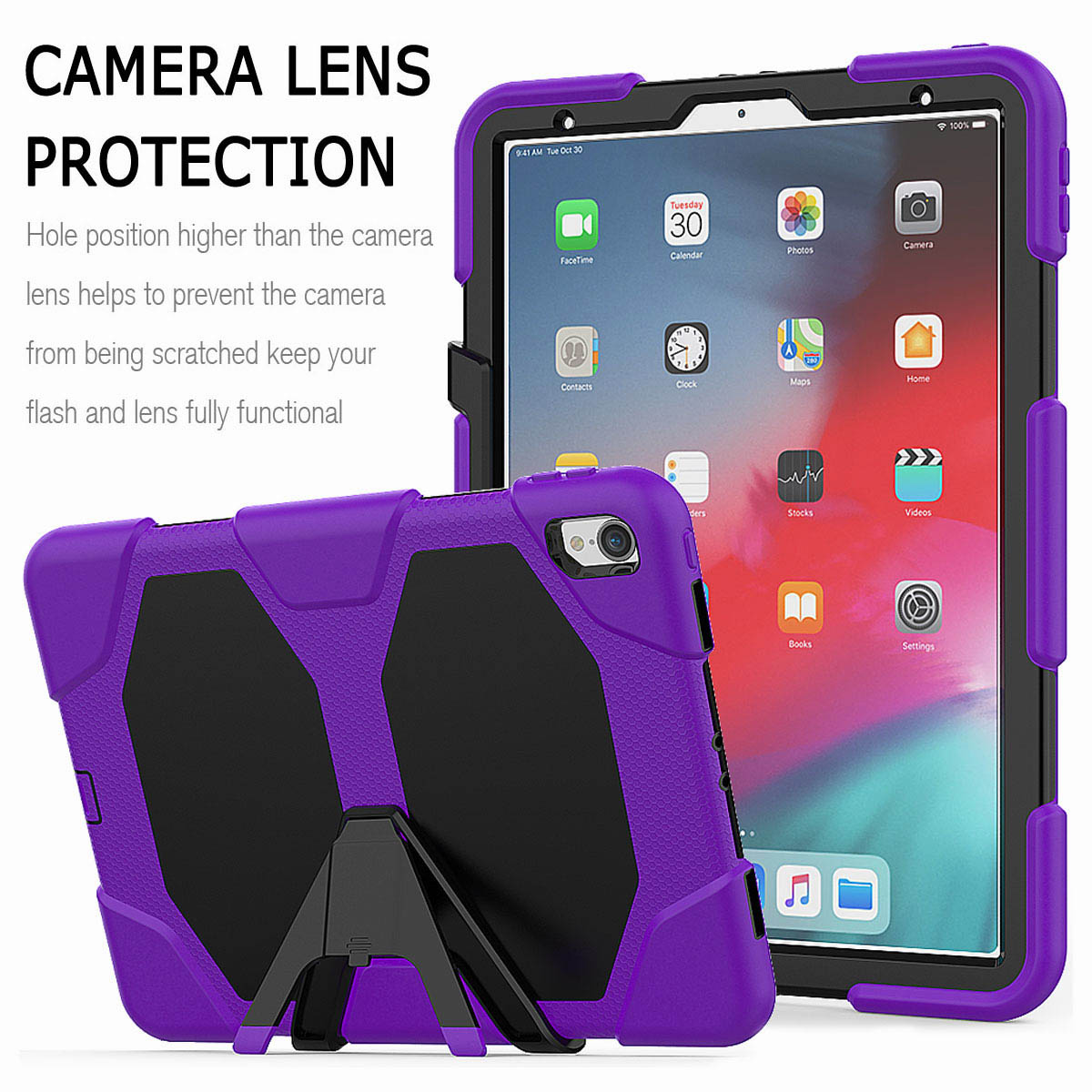 For-iPad-Pro-11-039-039-2018-Shockproof-Hybrid-Rugged-Stand-Case-with-Screen-Protector thumbnail 64
