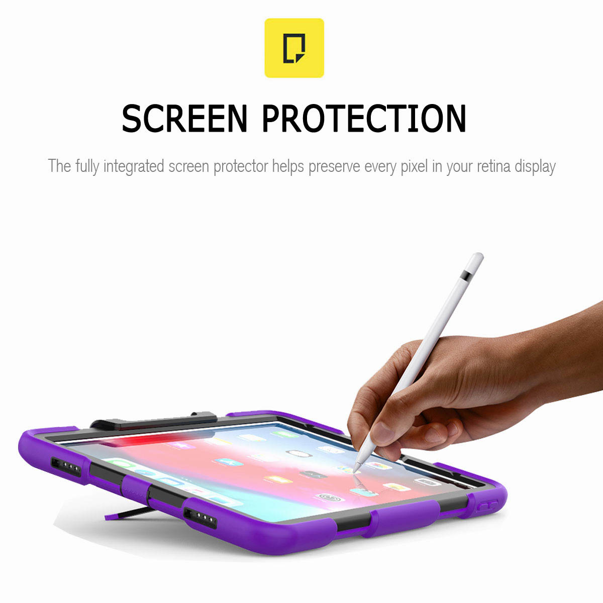 For-iPad-Pro-11-039-039-2018-Shockproof-Hybrid-Rugged-Stand-Case-with-Screen-Protector thumbnail 67