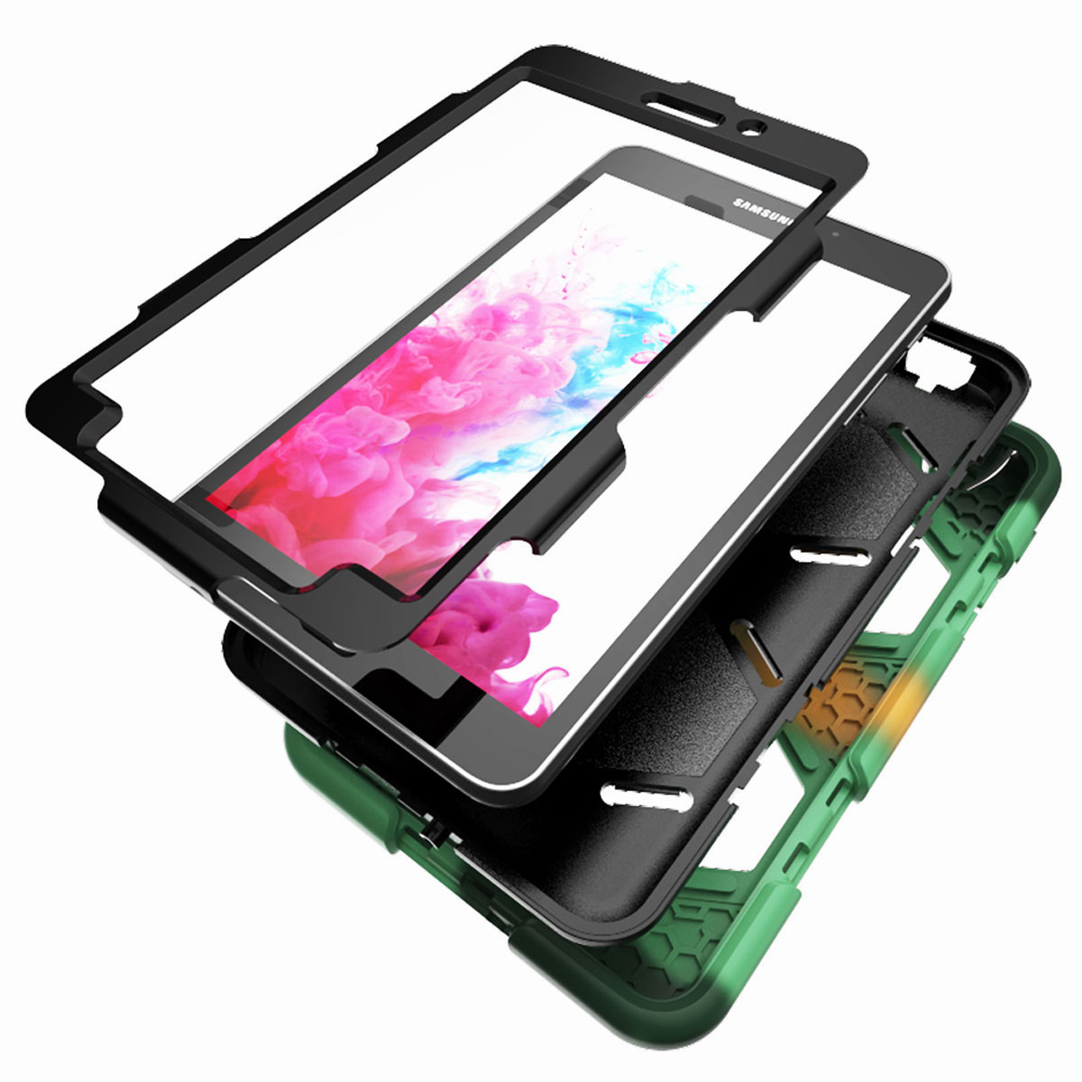 Tablet-Case-For-Samsung-Galaxy-Tab-A-E-S2-Screen-Protective-Hybrid-Rubber-Cover thumbnail 17