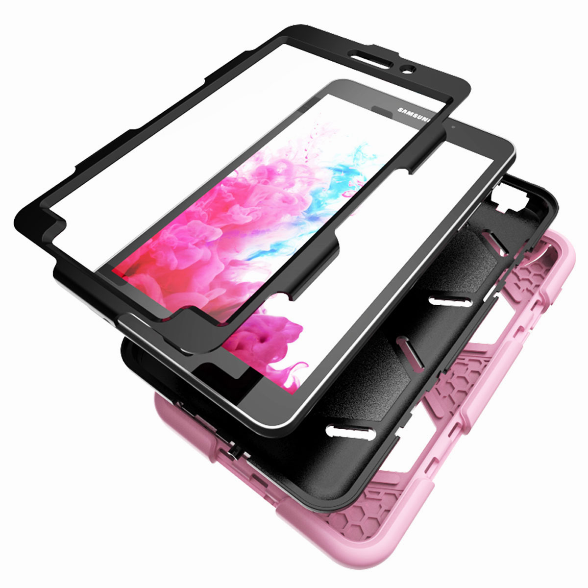 Tablet-Case-For-Samsung-Galaxy-Tab-A-E-S2-Screen-Protective-Hybrid-Rubber-Cover thumbnail 29