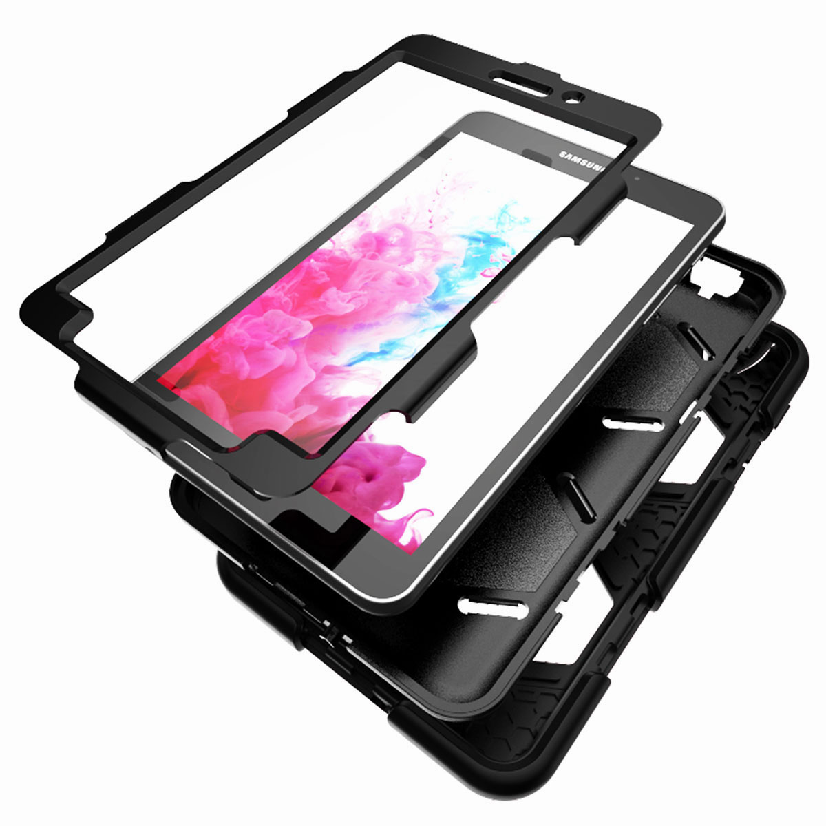 Tablet-Case-For-Samsung-Galaxy-Tab-A-E-S2-Screen-Protective-Hybrid-Rubber-Cover thumbnail 32