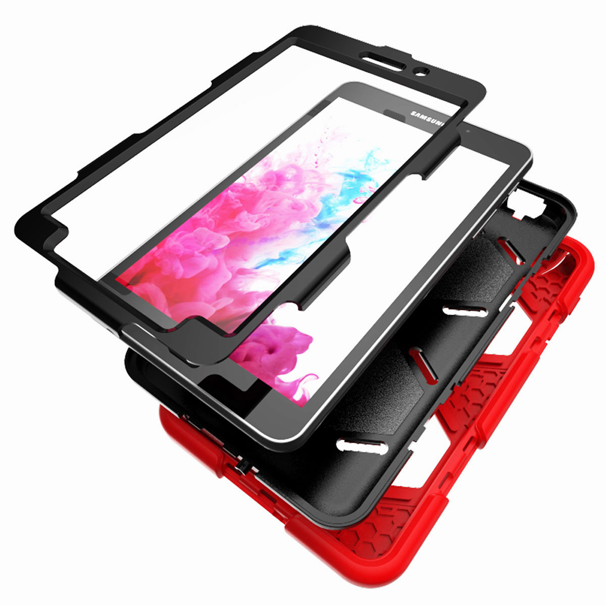 Tablet-Case-For-Samsung-Galaxy-Tab-A-E-S2-Screen-Protective-Hybrid-Rubber-Cover thumbnail 35