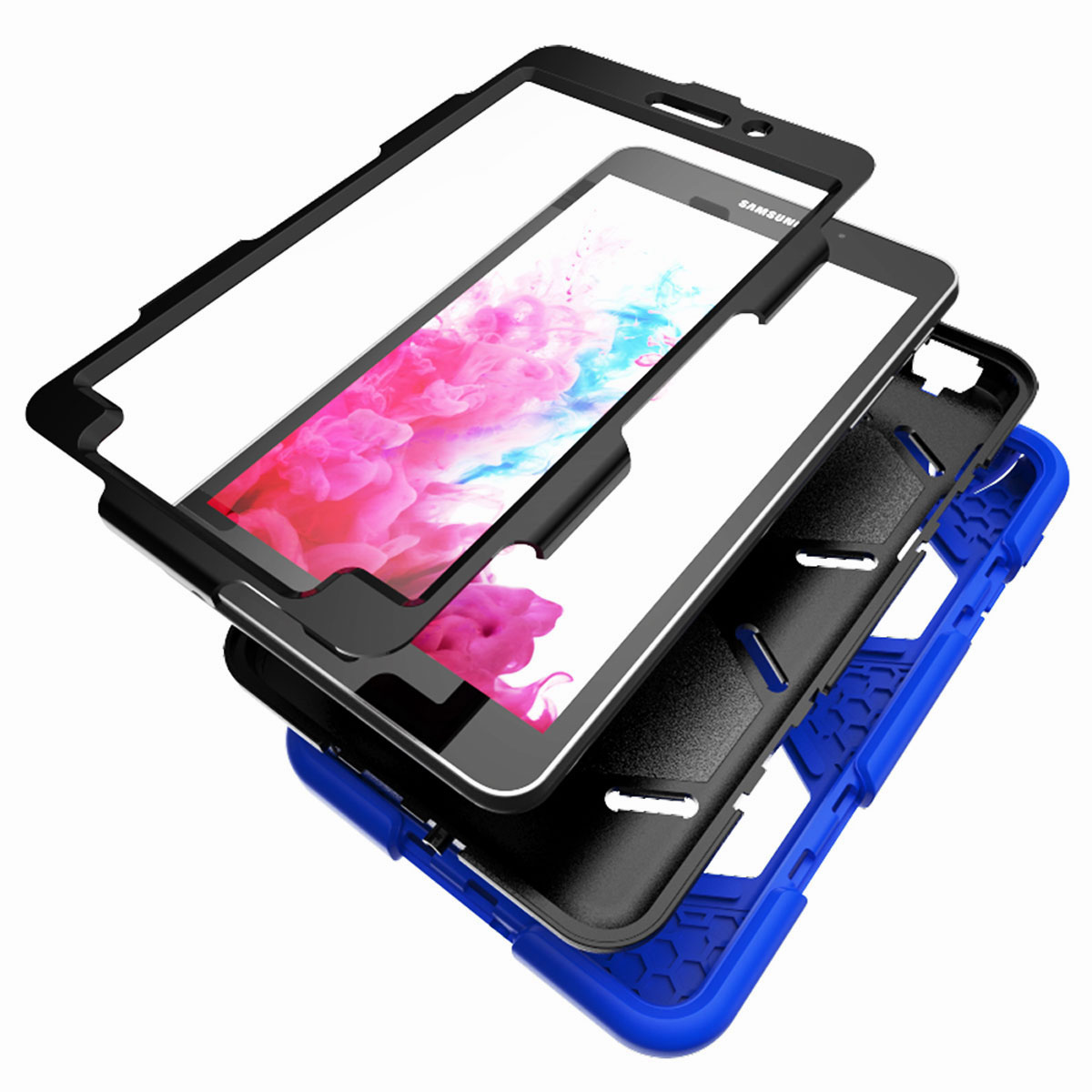 Tablet-Case-For-Samsung-Galaxy-Tab-A-E-S2-Screen-Protective-Hybrid-Rubber-Cover thumbnail 41