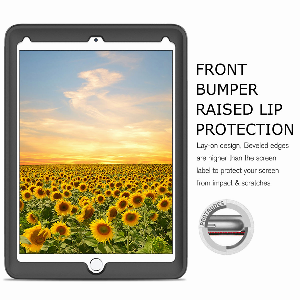 For-Apple-iPad-Air-2-A1566-A1567-Hybrid-Rubber-Shockproof-Hard-Stand-Cover-Case thumbnail 17