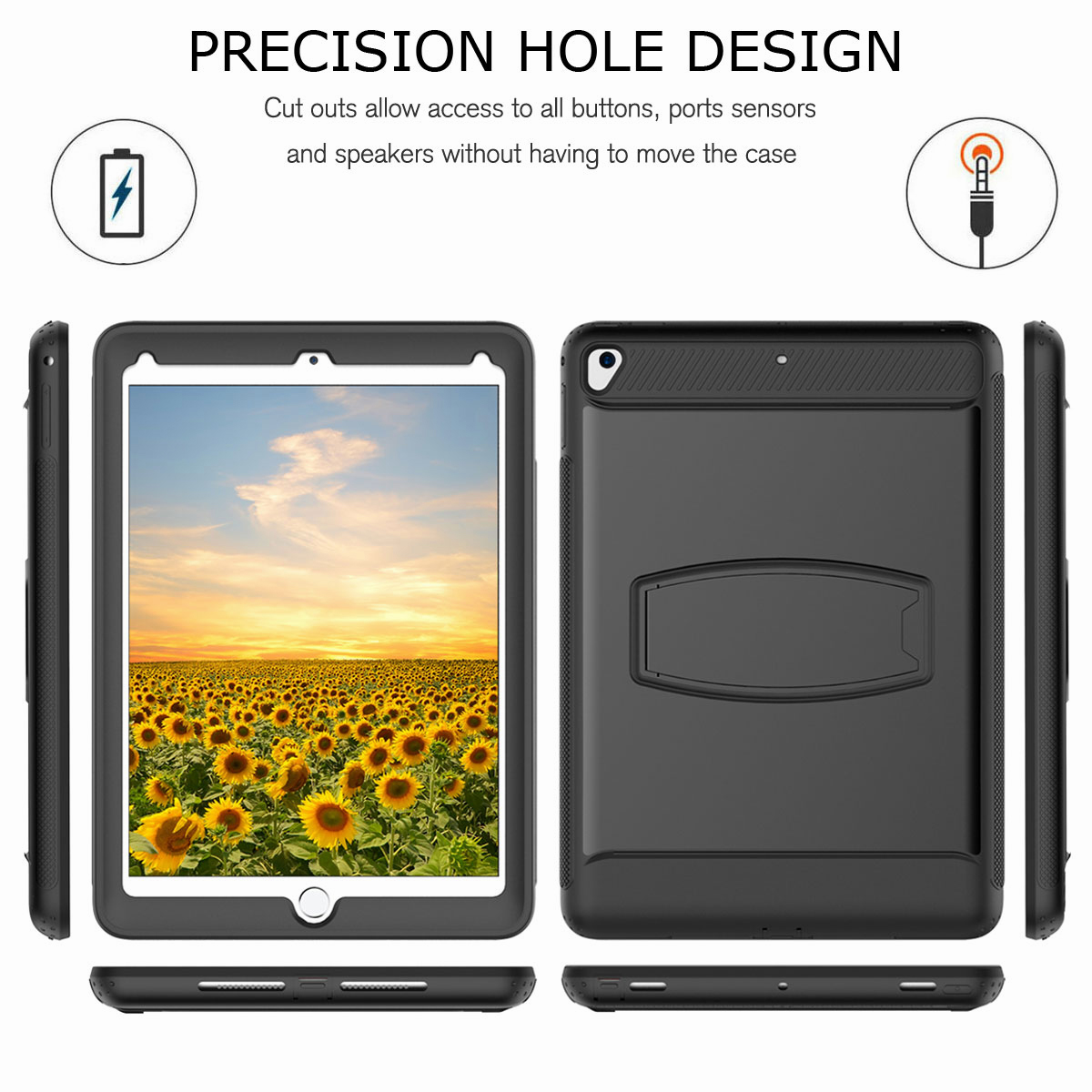 For-Apple-iPad-Air-2-A1566-A1567-Hybrid-Rubber-Shockproof-Hard-Stand-Cover-Case thumbnail 18