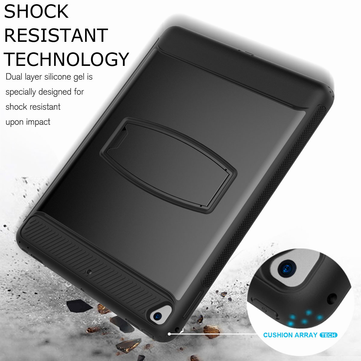 For-Apple-iPad-Air-2-A1566-A1567-Hybrid-Rubber-Shockproof-Hard-Stand-Cover-Case thumbnail 19