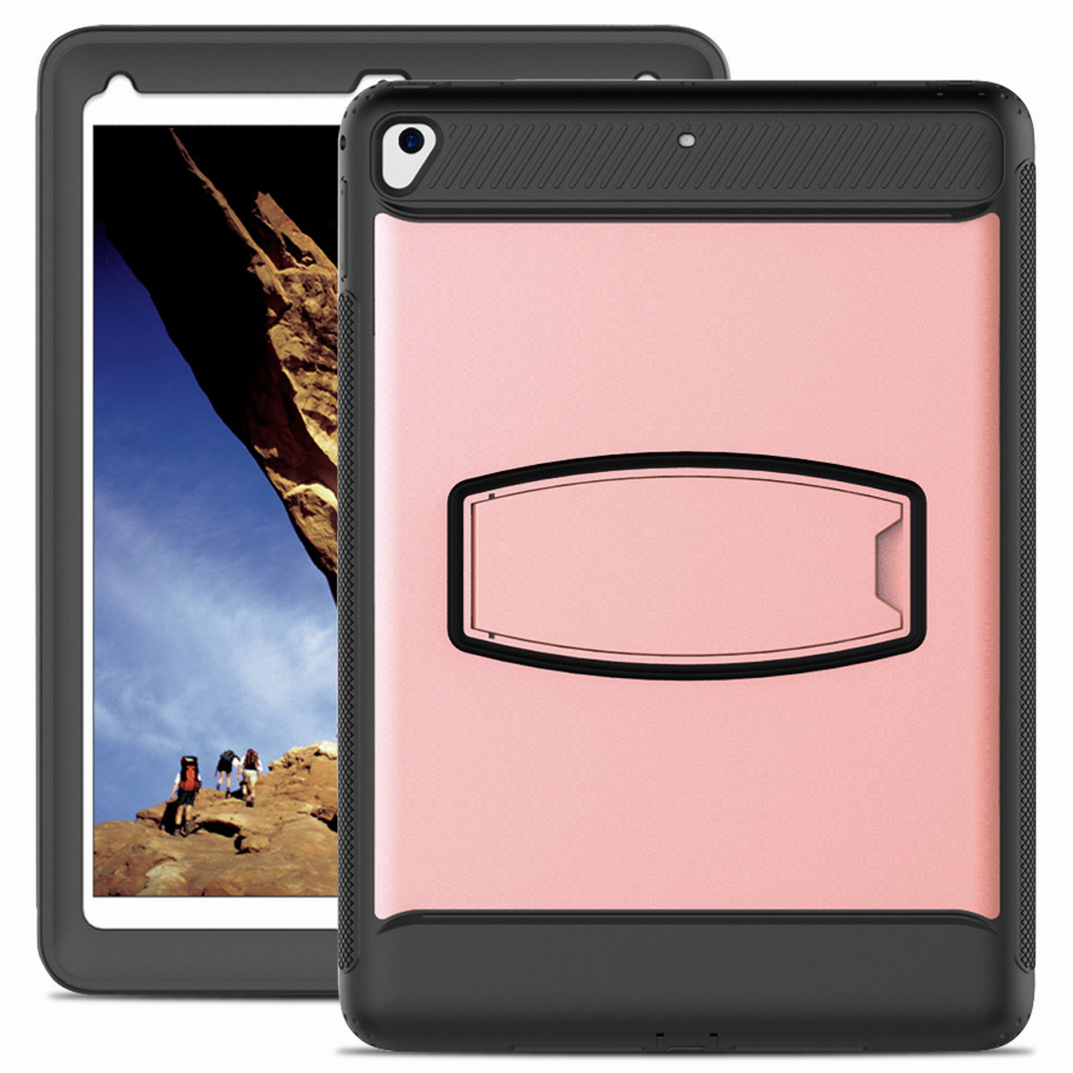 For-Apple-iPad-Air-2-A1566-A1567-Hybrid-Rubber-Shockproof-Hard-Stand-Cover-Case thumbnail 20