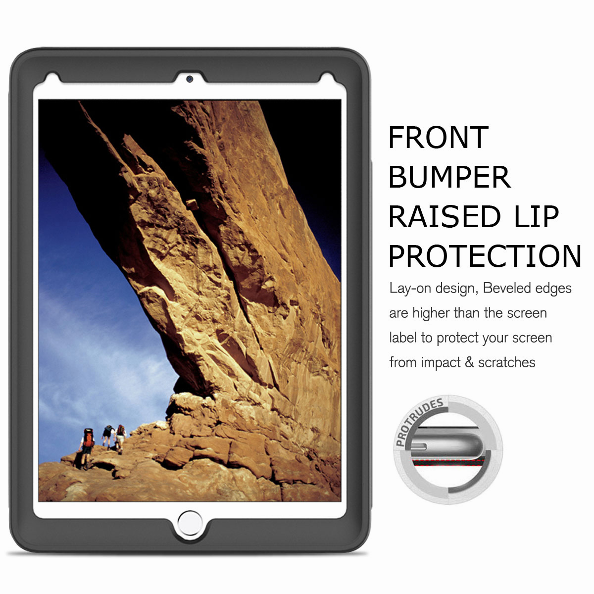 For-Apple-iPad-Air-2-A1566-A1567-Hybrid-Rubber-Shockproof-Hard-Stand-Cover-Case thumbnail 24