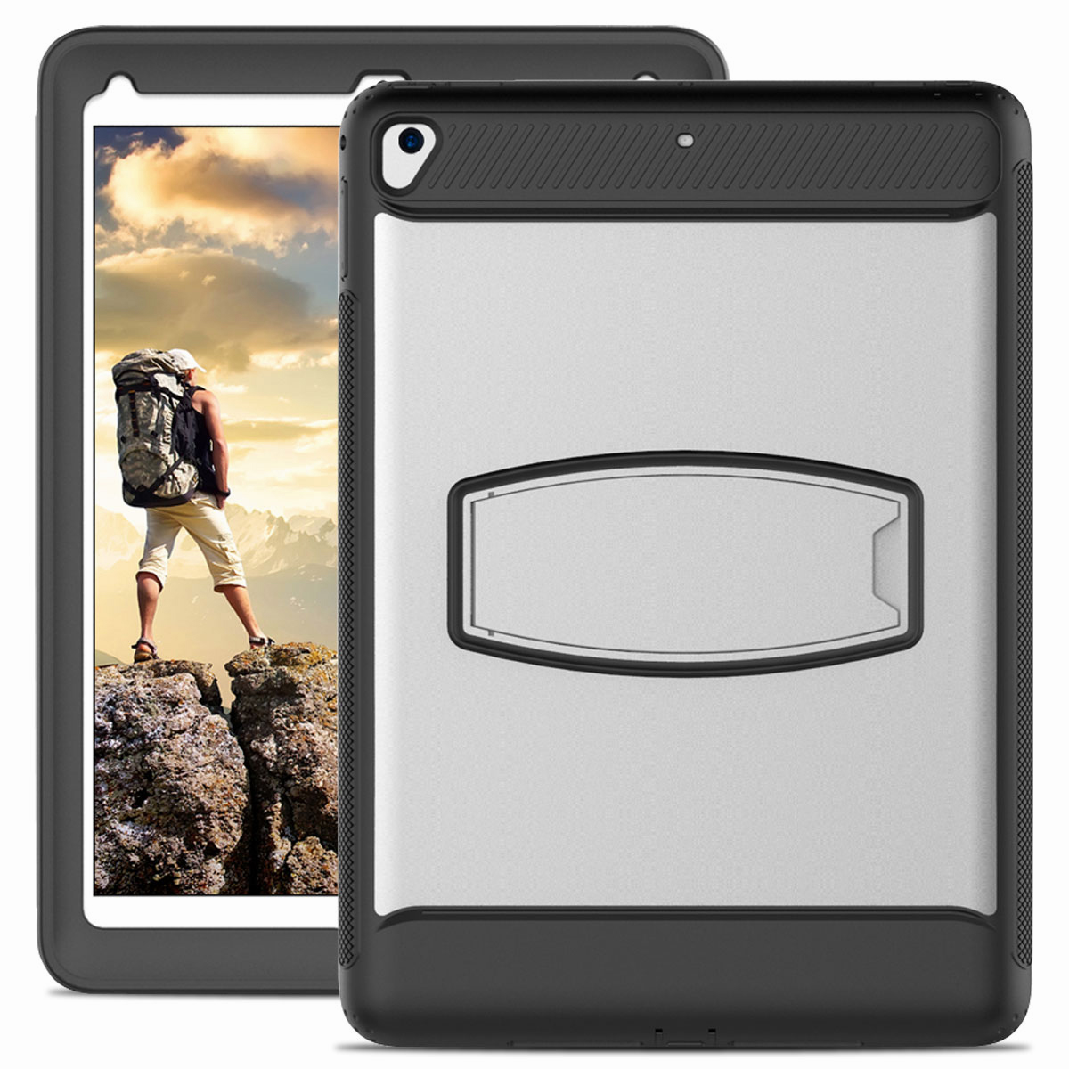 For-Apple-iPad-Air-2-A1566-A1567-Hybrid-Rubber-Shockproof-Hard-Stand-Cover-Case thumbnail 41