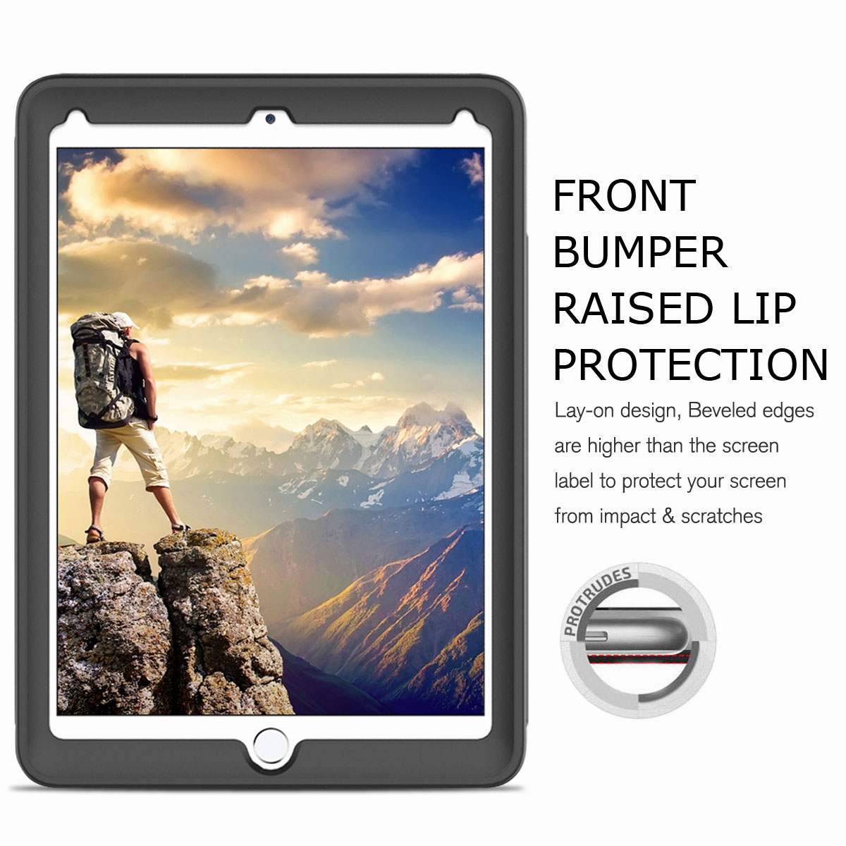 For-Apple-iPad-Air-2-A1566-A1567-Hybrid-Rubber-Shockproof-Hard-Stand-Cover-Case thumbnail 45