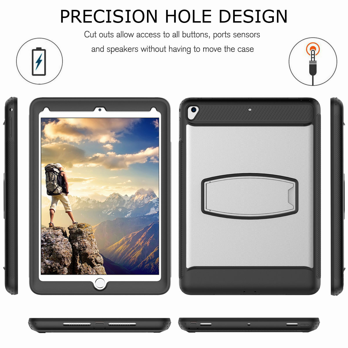 For-Apple-iPad-Air-2-A1566-A1567-Hybrid-Rubber-Shockproof-Hard-Stand-Cover-Case thumbnail 46