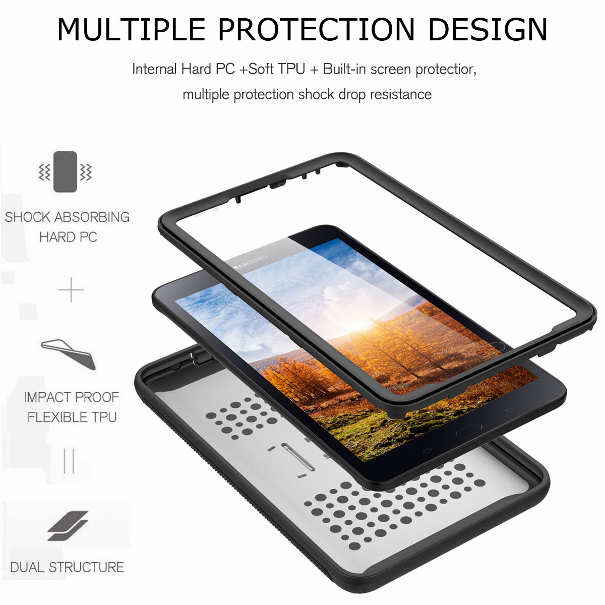 For-Samsung-Galaxy-Tab-E-8-0-039-039-T377-Hybrid-Shockproof-Case-with-Screen-Protector thumbnail 14