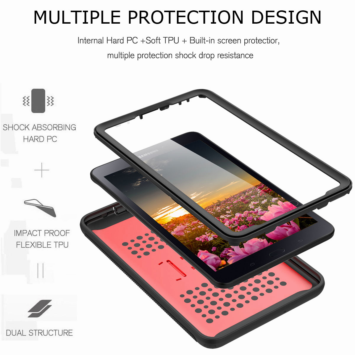 For-Samsung-Galaxy-Tab-E-8-0-039-039-T377-Hybrid-Shockproof-Case-with-Screen-Protector thumbnail 28