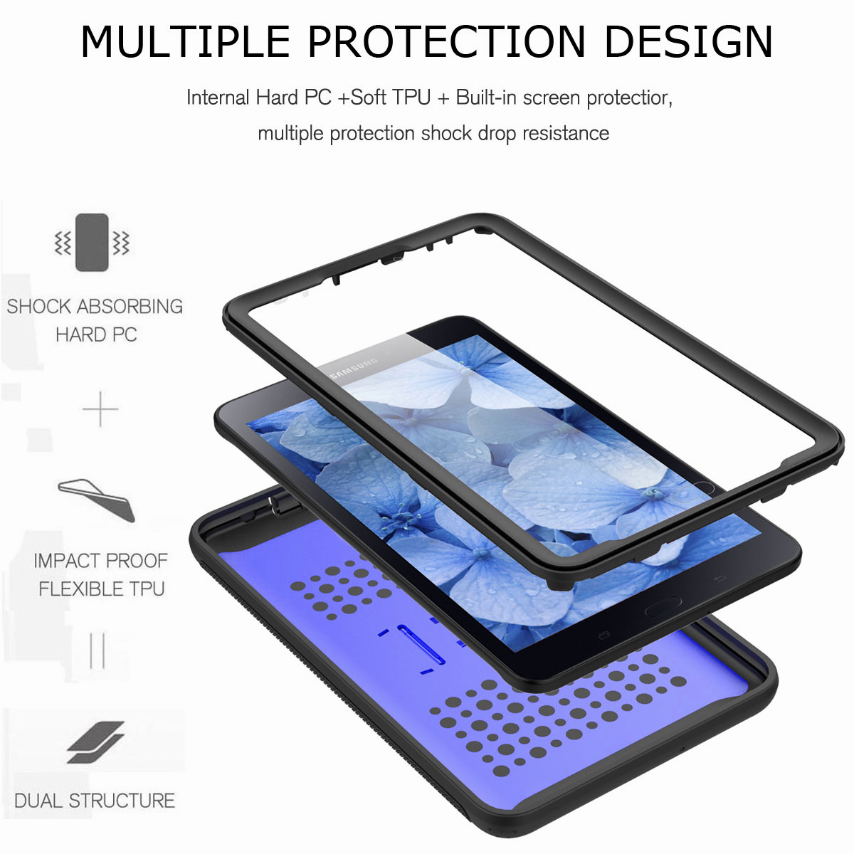 For-Samsung-Galaxy-Tab-E-8-0-039-039-T377-Hybrid-Shockproof-Case-with-Screen-Protector thumbnail 35