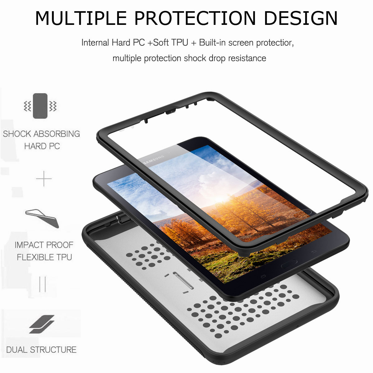 For-Samsung-Galaxy-Tab-E-8-0-039-039-T377-Hybrid-Shockproof-Case-with-Screen-Protector thumbnail 42