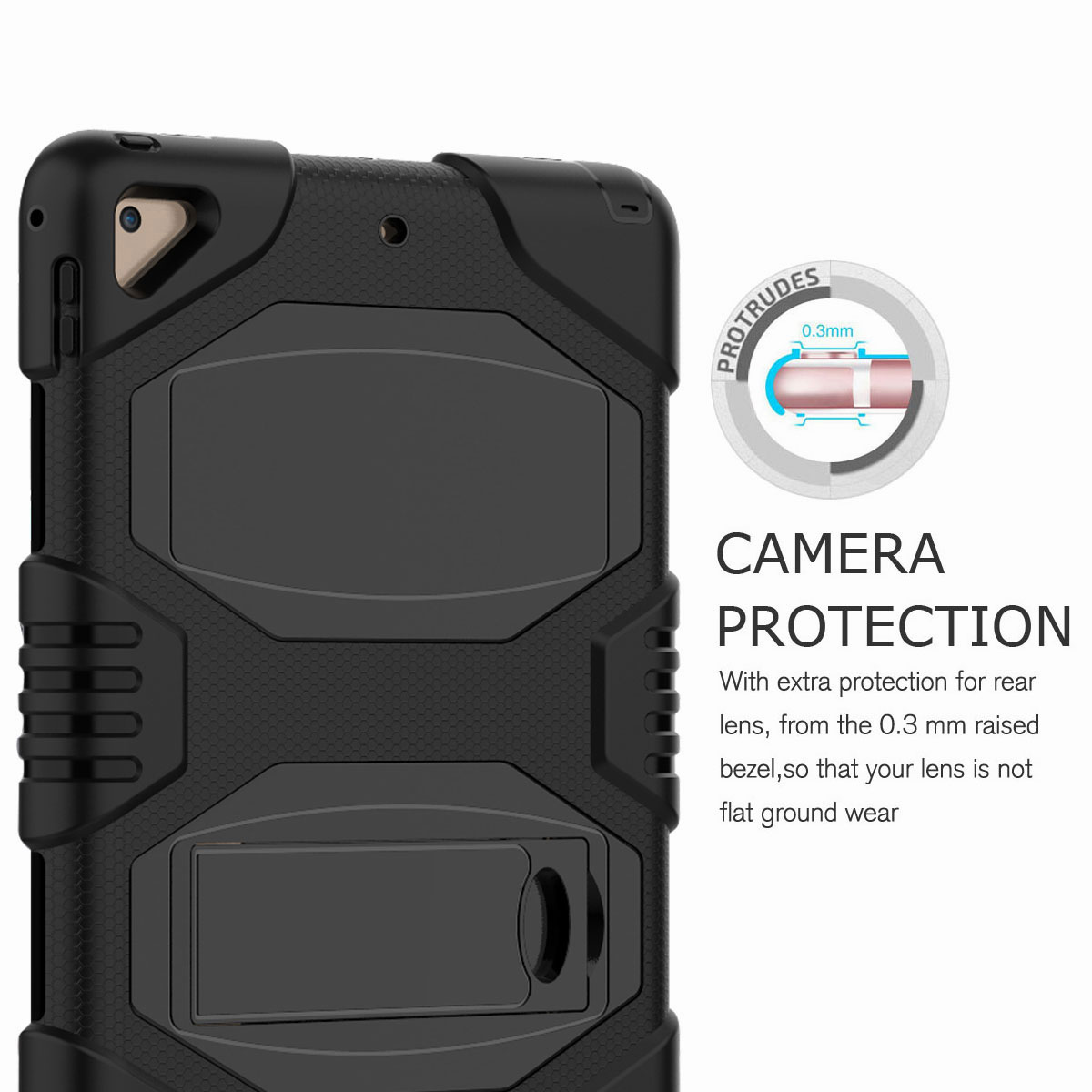 Hybrid-Rubber-Heavy-Duty-Shockproof-Case-Cover-For-iPad-9-7-6th-Generation-2018 thumbnail 14