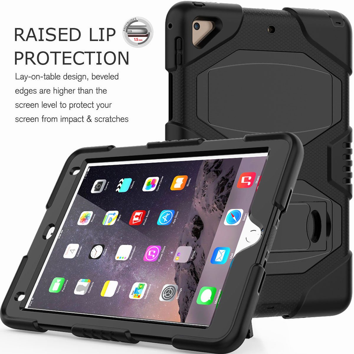 Hybrid-Rubber-Heavy-Duty-Shockproof-Case-Cover-For-iPad-9-7-6th-Generation-2018 thumbnail 15