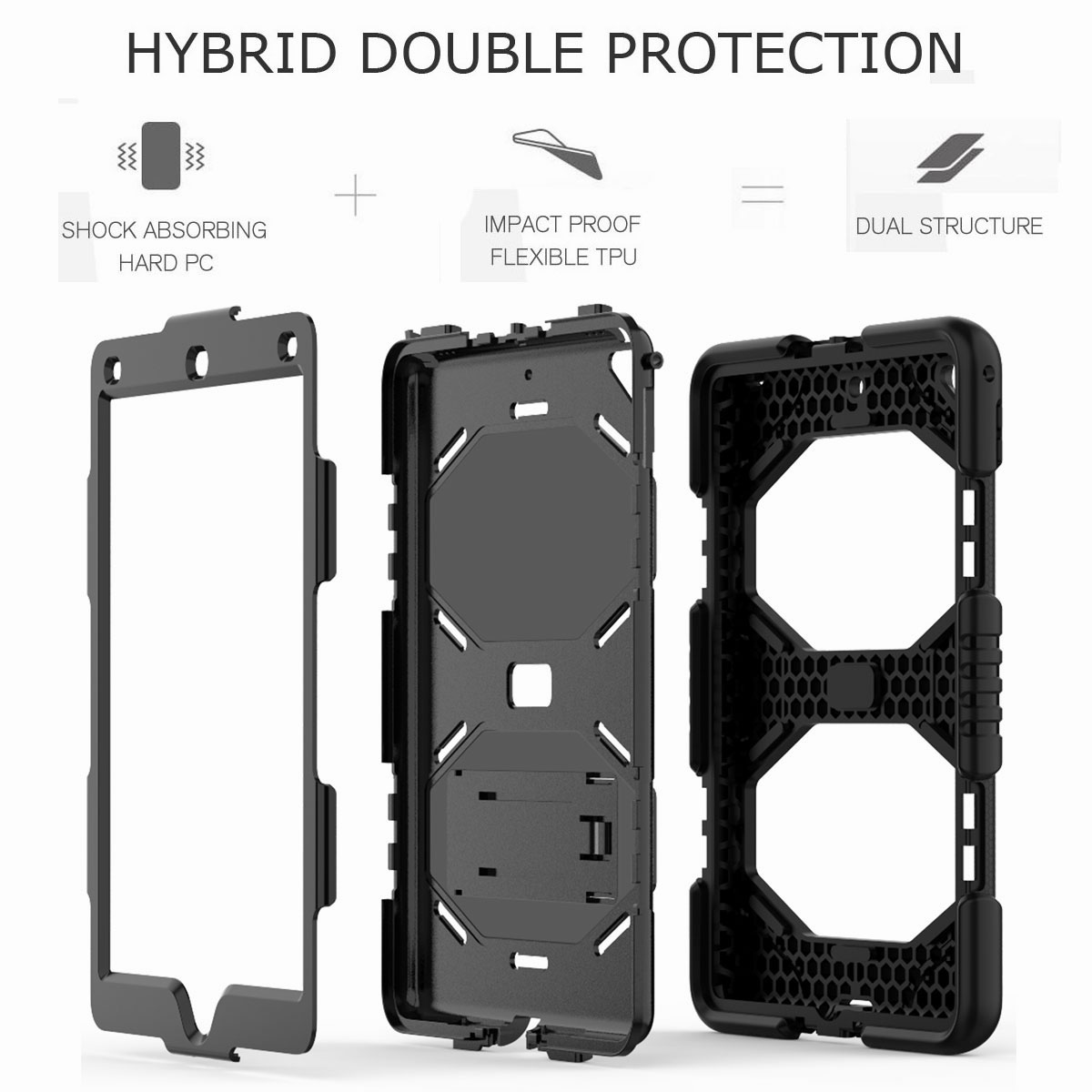 Hybrid-Rubber-Heavy-Duty-Shockproof-Case-Cover-For-iPad-9-7-6th-Generation-2018 thumbnail 16
