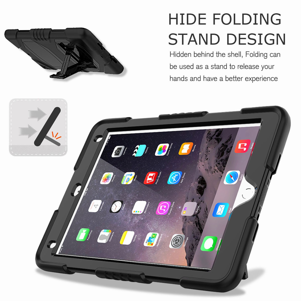 Hybrid-Rubber-Heavy-Duty-Shockproof-Case-Cover-For-iPad-9-7-6th-Generation-2018 thumbnail 17