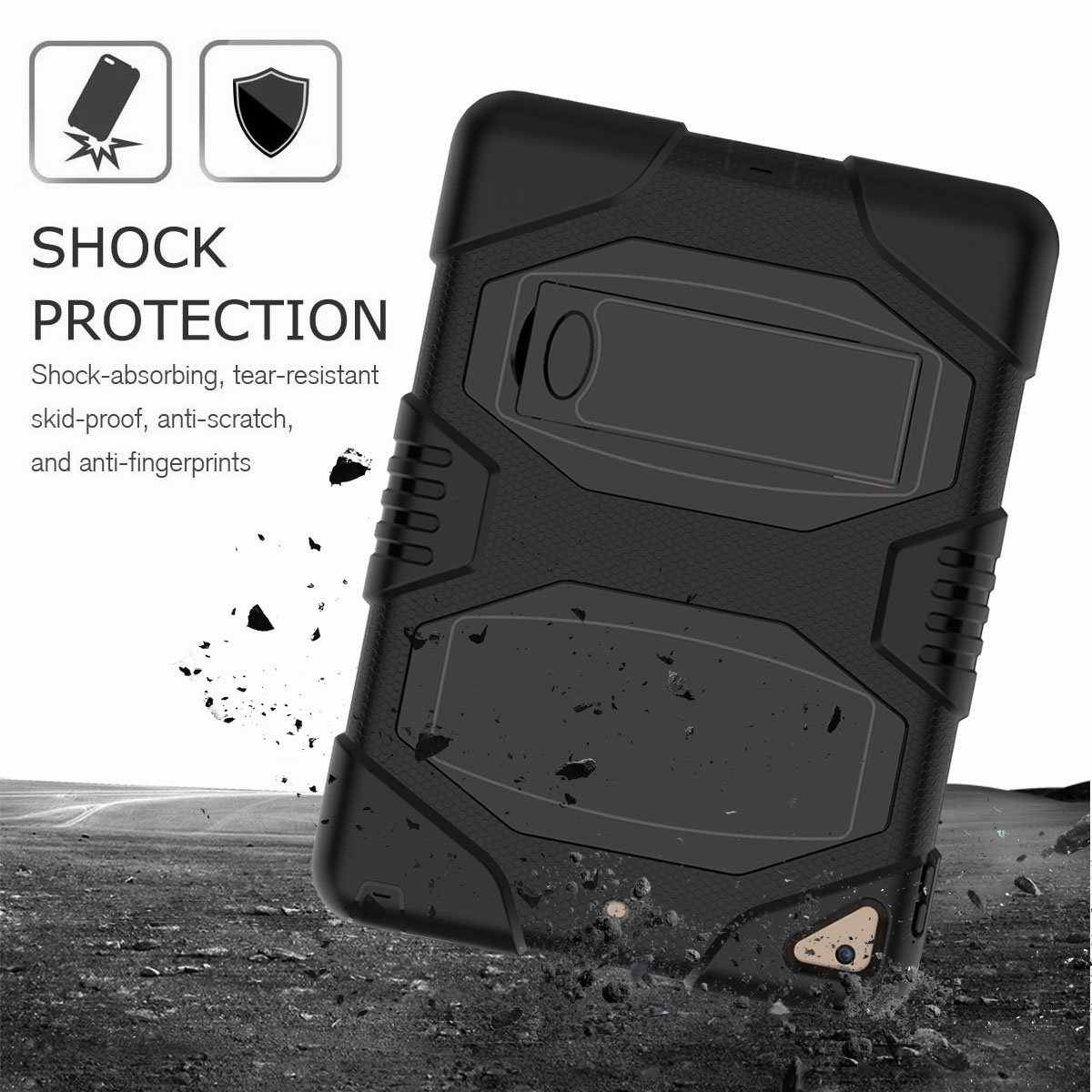 Hybrid-Rubber-Heavy-Duty-Shockproof-Case-Cover-For-iPad-9-7-6th-Generation-2018 thumbnail 18