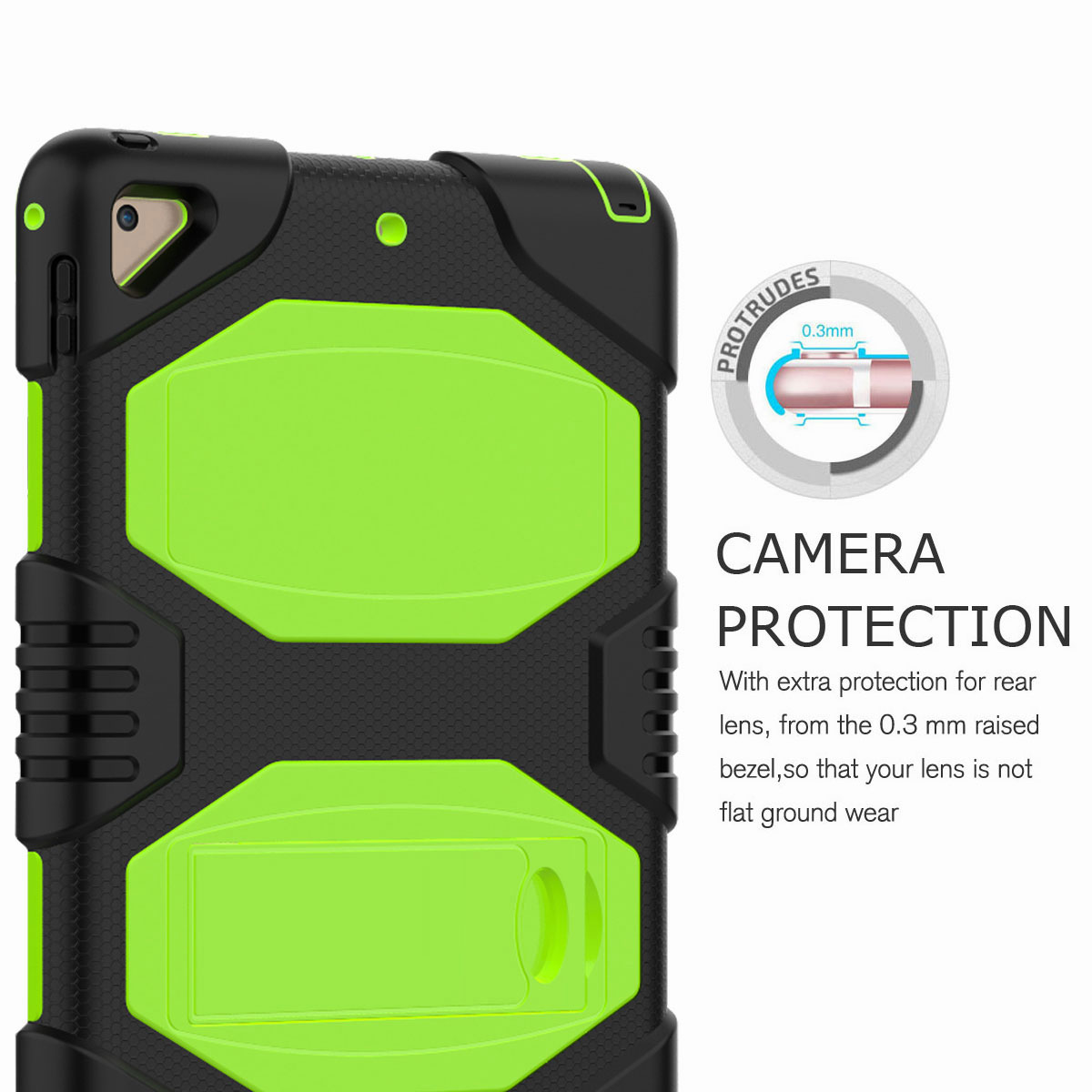 Hybrid-Rubber-Heavy-Duty-Shockproof-Case-Cover-For-iPad-9-7-6th-Generation-2018 thumbnail 20