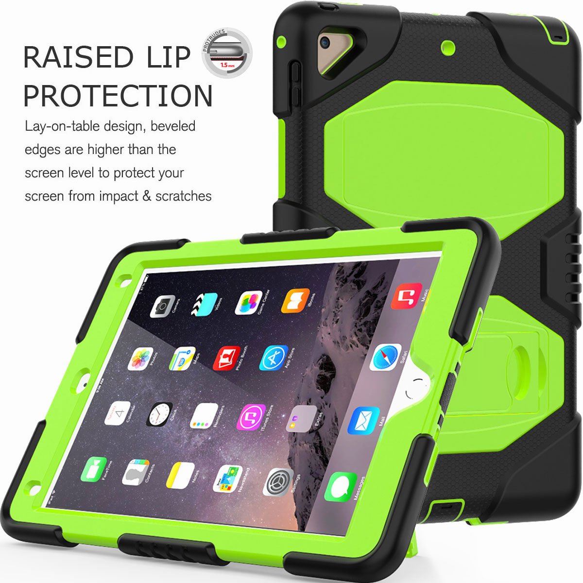 Hybrid-Rubber-Heavy-Duty-Shockproof-Case-Cover-For-iPad-9-7-6th-Generation-2018 thumbnail 21