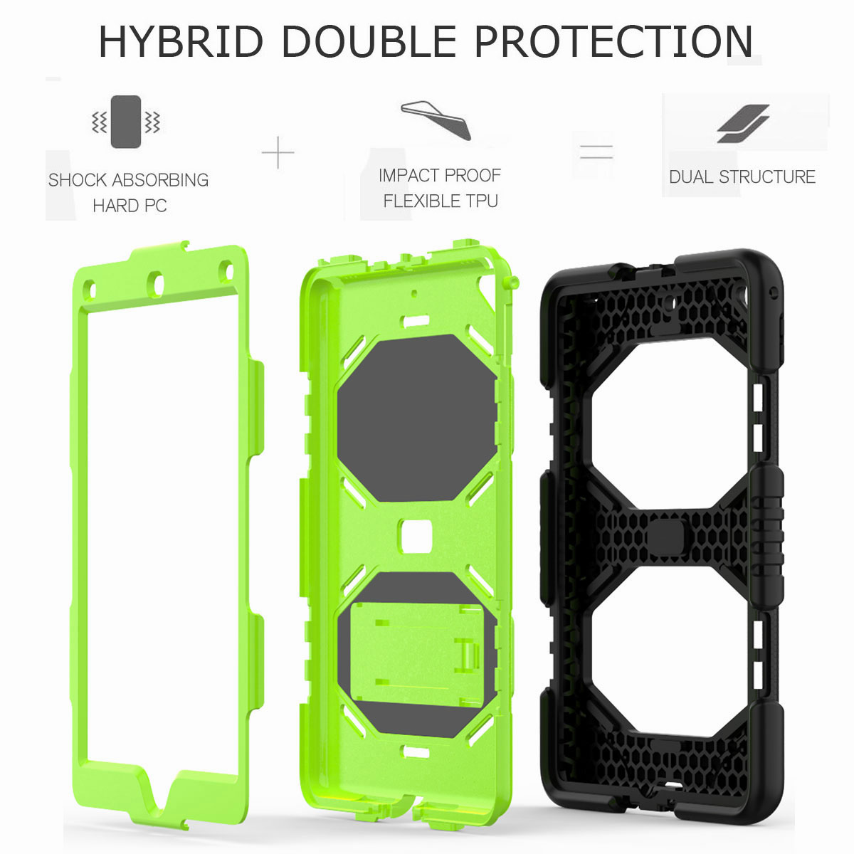 Hybrid-Rubber-Heavy-Duty-Shockproof-Case-Cover-For-iPad-9-7-6th-Generation-2018 thumbnail 22