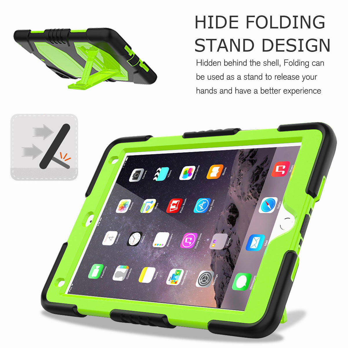 Hybrid-Rubber-Heavy-Duty-Shockproof-Case-Cover-For-iPad-9-7-6th-Generation-2018 thumbnail 23