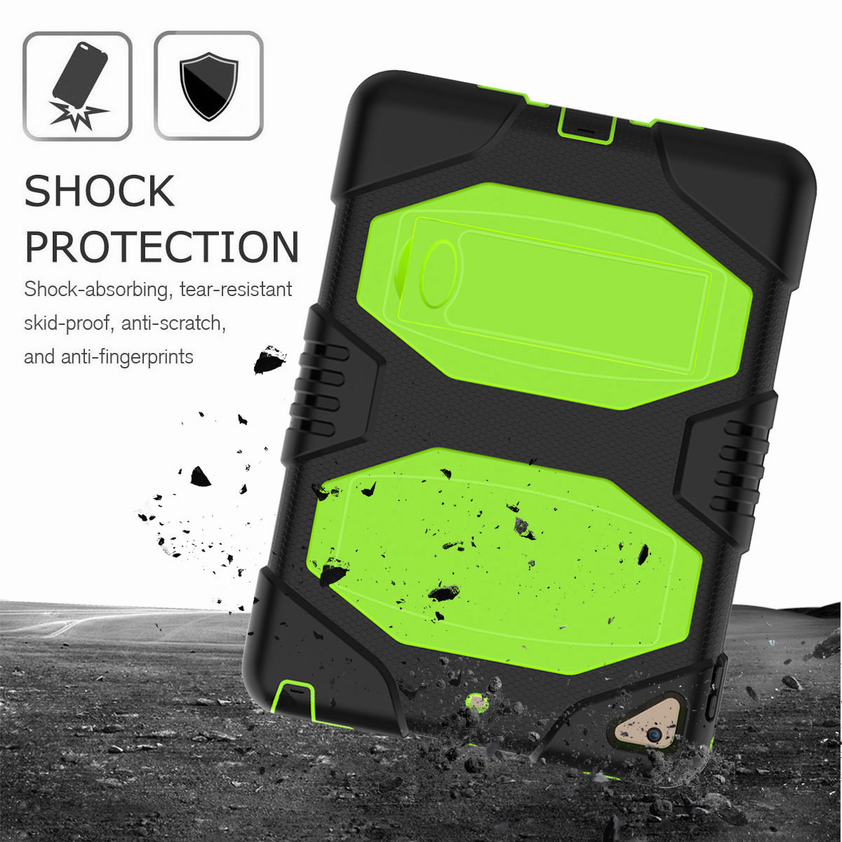 Hybrid-Rubber-Heavy-Duty-Shockproof-Case-Cover-For-iPad-9-7-6th-Generation-2018 thumbnail 24