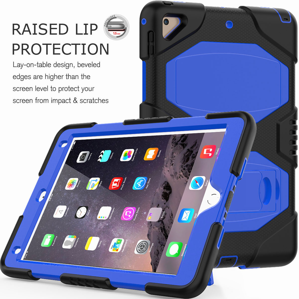 Hybrid-Rubber-Heavy-Duty-Shockproof-Case-Cover-For-iPad-9-7-6th-Generation-2018 thumbnail 27