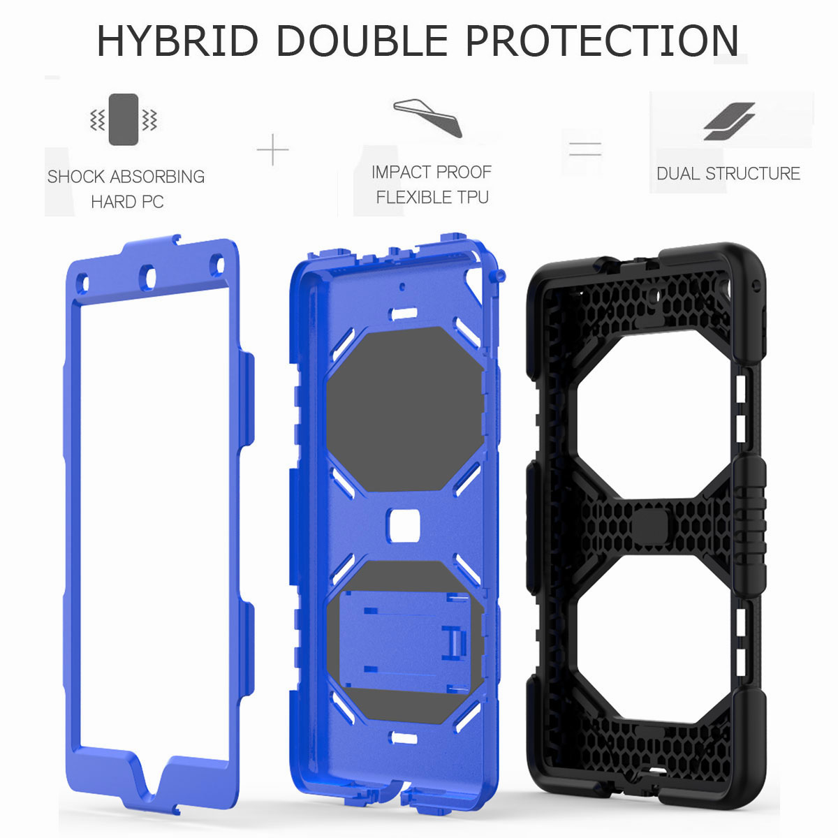 Hybrid-Rubber-Heavy-Duty-Shockproof-Case-Cover-For-iPad-9-7-6th-Generation-2018 thumbnail 28