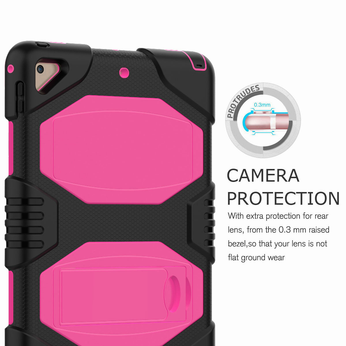 Hybrid-Rubber-Heavy-Duty-Shockproof-Case-Cover-For-iPad-9-7-6th-Generation-2018 thumbnail 32