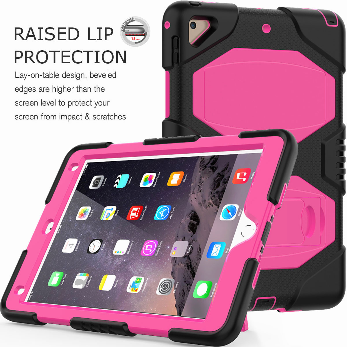 Hybrid-Rubber-Heavy-Duty-Shockproof-Case-Cover-For-iPad-9-7-6th-Generation-2018 thumbnail 33