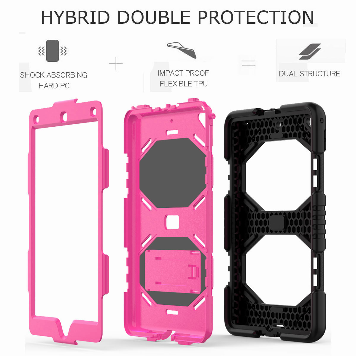 Hybrid-Rubber-Heavy-Duty-Shockproof-Case-Cover-For-iPad-9-7-6th-Generation-2018 thumbnail 34