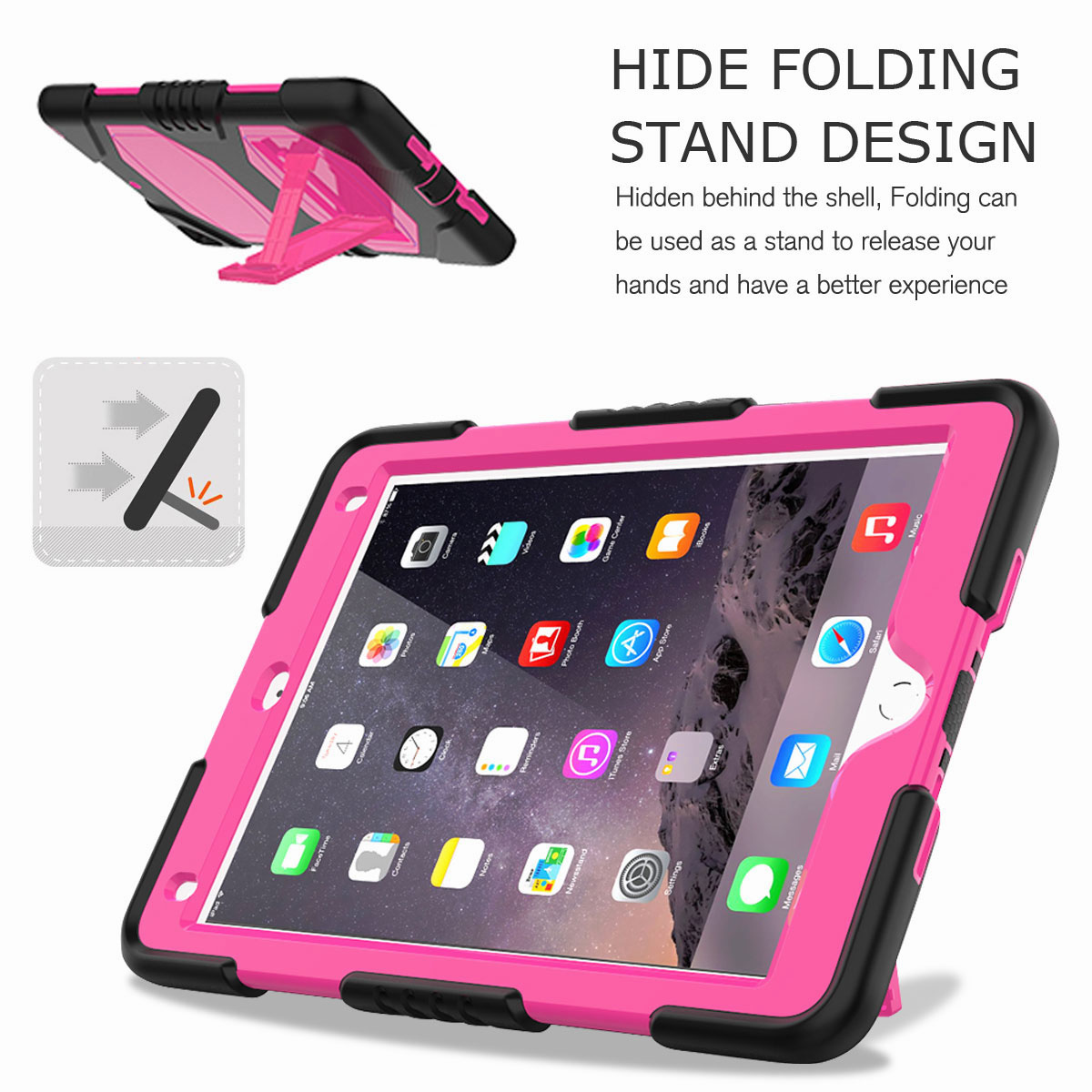Hybrid-Rubber-Heavy-Duty-Shockproof-Case-Cover-For-iPad-9-7-6th-Generation-2018 thumbnail 35