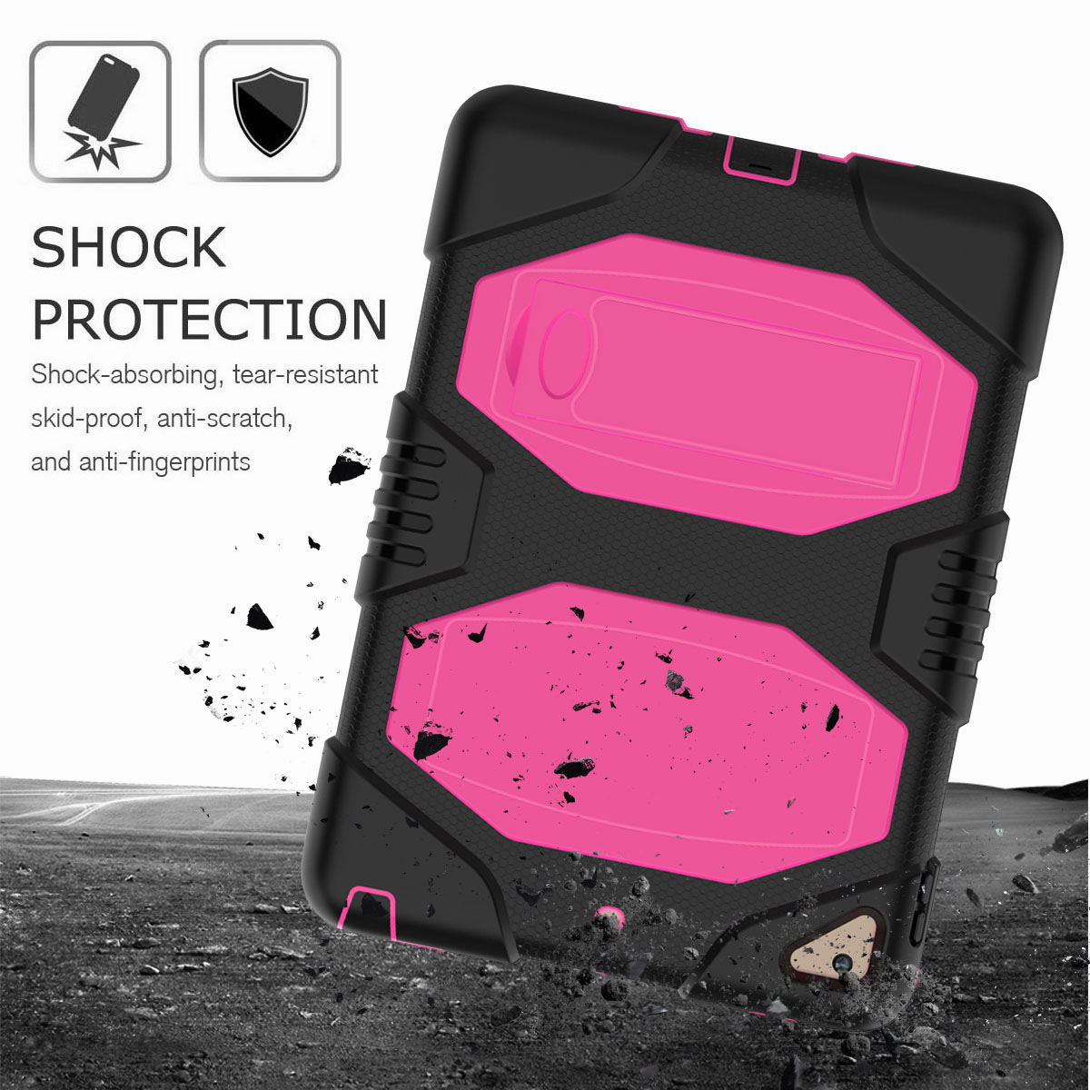 Hybrid-Rubber-Heavy-Duty-Shockproof-Case-Cover-For-iPad-9-7-6th-Generation-2018 thumbnail 36