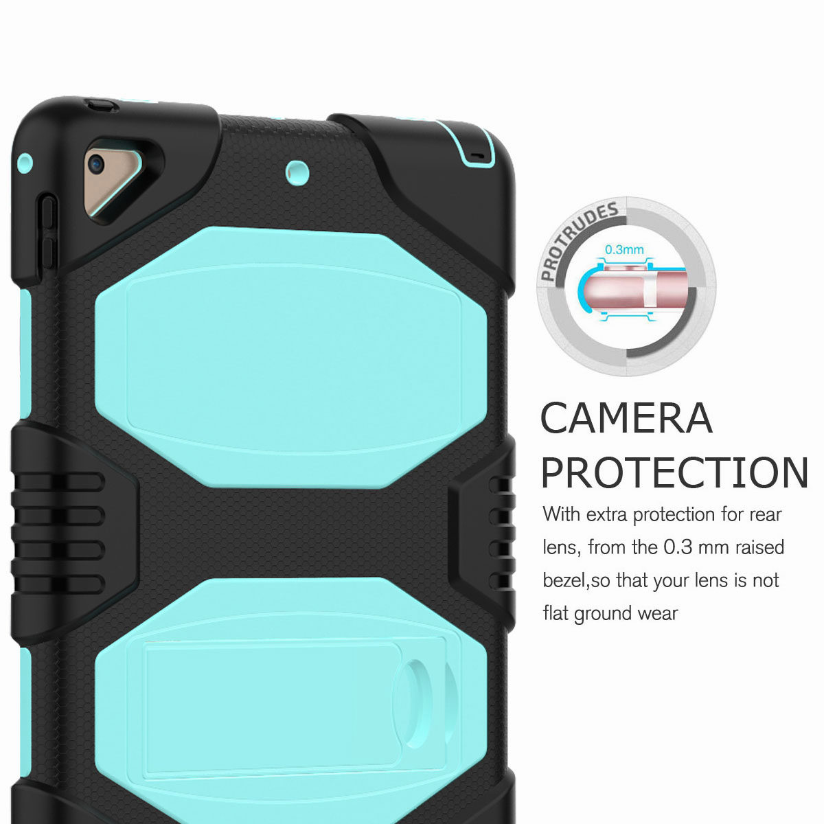 Hybrid-Rubber-Heavy-Duty-Shockproof-Case-Cover-For-iPad-9-7-6th-Generation-2018 thumbnail 38