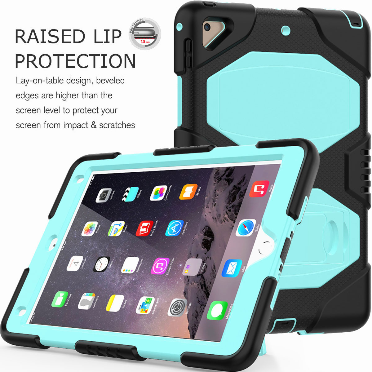 Hybrid-Rubber-Heavy-Duty-Shockproof-Case-Cover-For-iPad-9-7-6th-Generation-2018 thumbnail 39