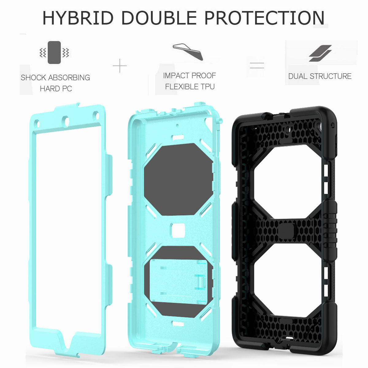 Hybrid-Rubber-Heavy-Duty-Shockproof-Case-Cover-For-iPad-9-7-6th-Generation-2018 thumbnail 40